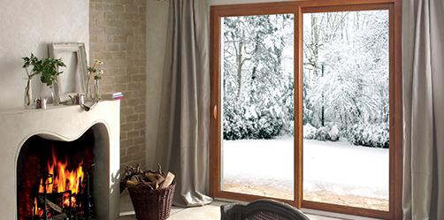 Fenêtre PVC EFFYBELLE² PLAXE CHENE DORE COULISSANT