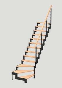escalier DUO One Crema les menuiseries Françaises