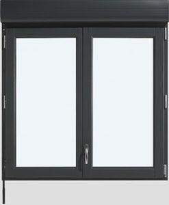 fenêtre virtuose gris Les Menuiseries Françaises