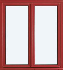 fenêtre Virtuose rouge Les Menuiseries Françaises