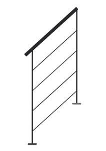 Rampe METALIN en tube pour l'escalier bois metal