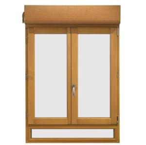 Fenêtre bois avec volet roulant intégré. Les Menuiseries Françaises