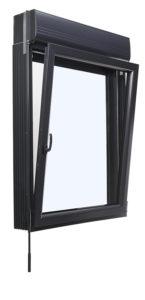 Fenêtre PVC avec volet roulant intégré. Les Menuiseries Françaises