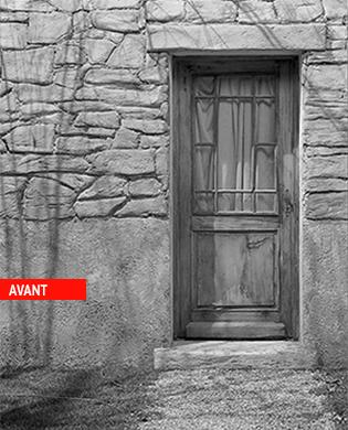 Porte d'entrée avant rénovation - Les Menuiseries Françaises